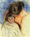 Mary Cassatt - Sketch of Mother Looking down at Thomas 1905-1915