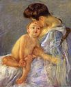 Mary Cassatt - Motherhood. Mother Kissing Her Baby 1906