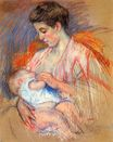 Mary Cassatt - Mother Jeanne Nursing Her Baby 1907-1908