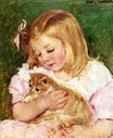 Mary Cassatt - Sara Holding A Cat 1908