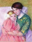 Mary Cassatt - Mother and Child Reading 1913