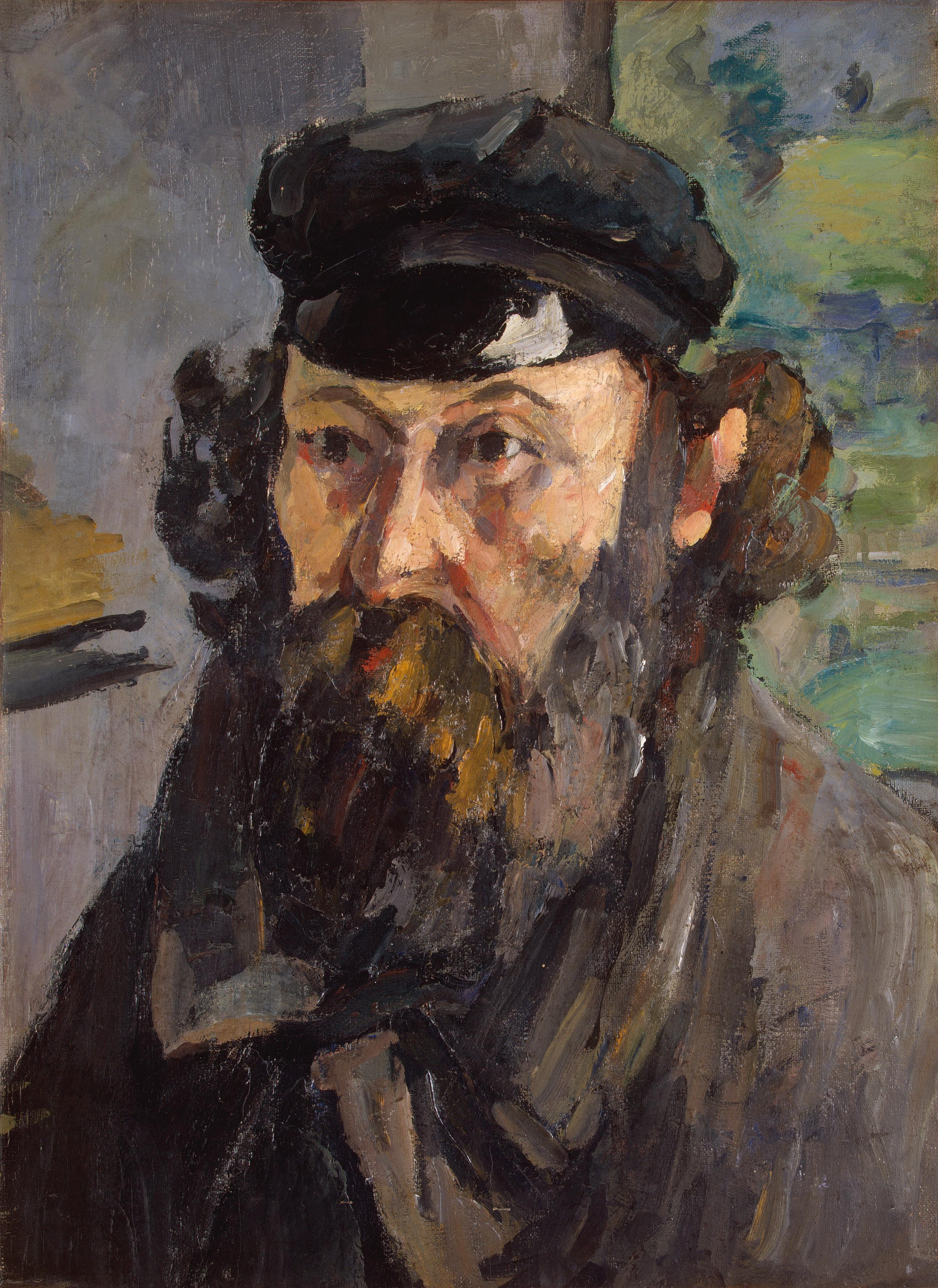Self-portrait in a casquette 1872