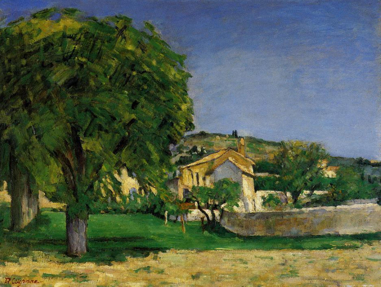 Chestnut trees and farmstead of Jas de Bouffin 1876