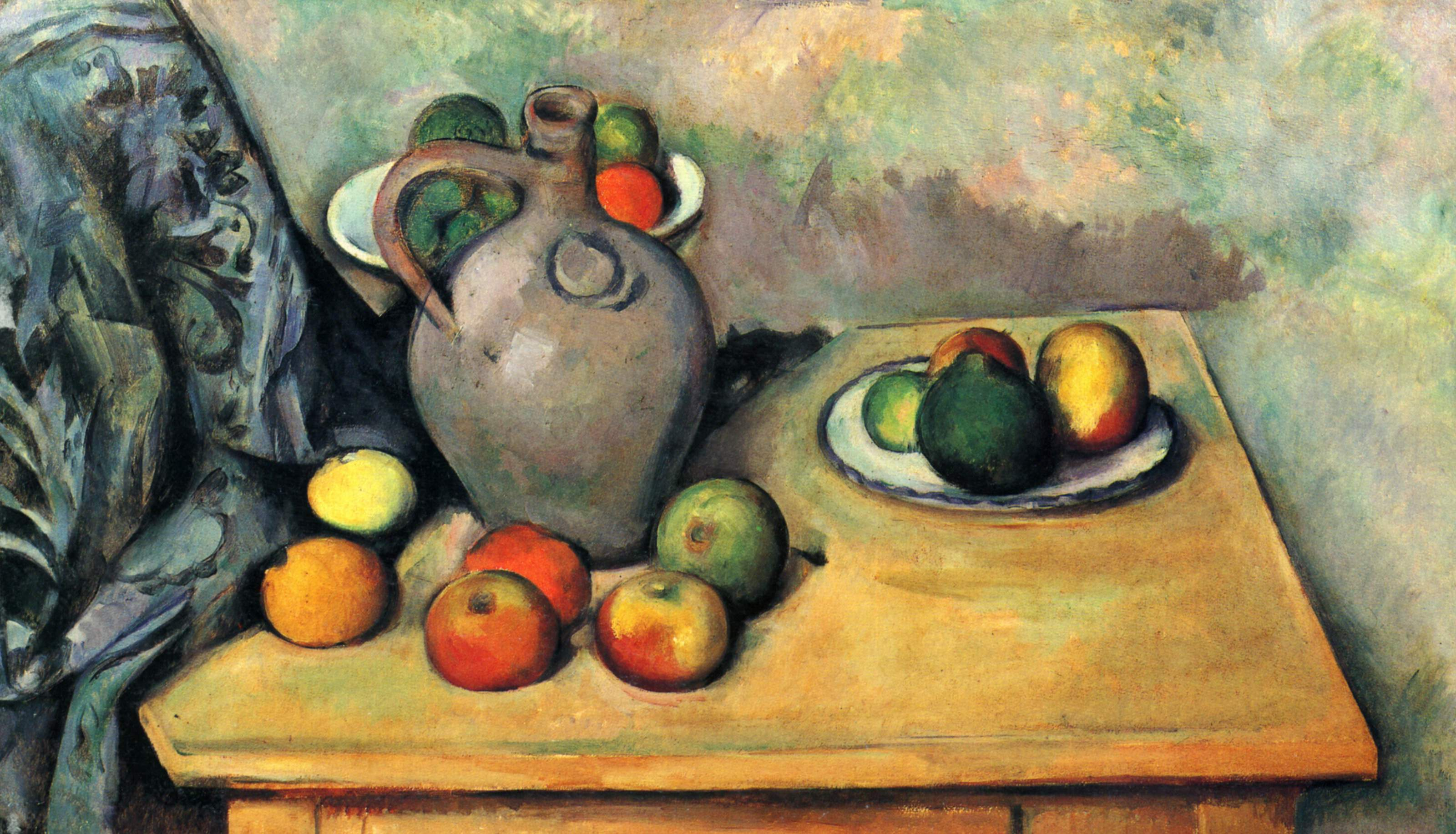 Still Life jug and fruit on a table 1894