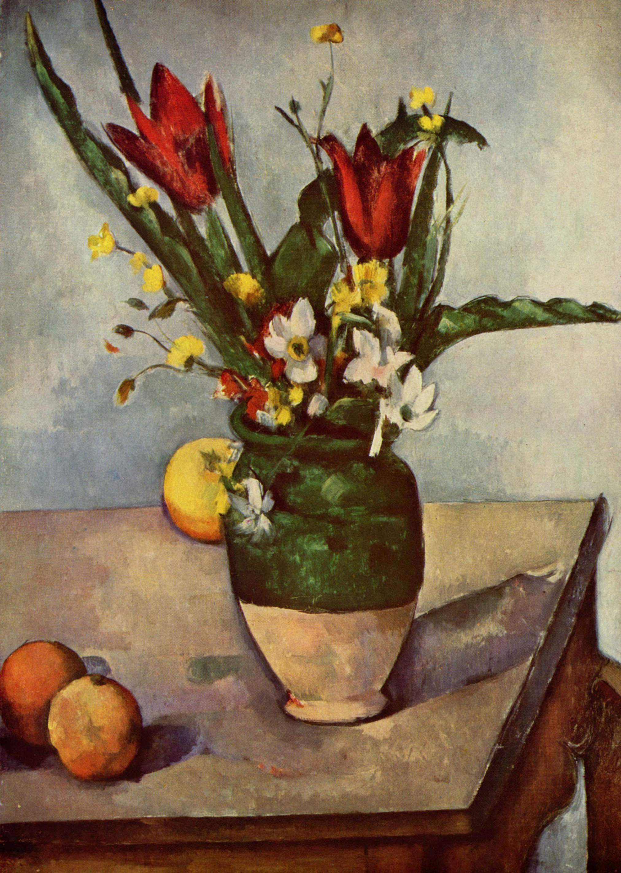 Still Life tulips and apples 1894