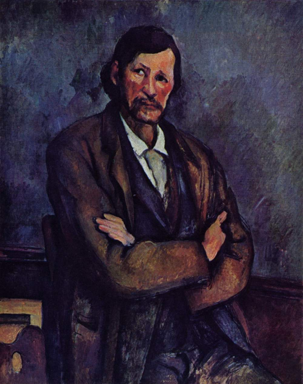 Man with crossed arms 1900