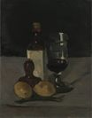 Still Life with Bottle Glass and Lemons 1867-1869
