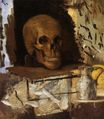Still Life skull and waterjug 1870