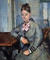 Madame Cezanne leaning on a table 1873