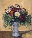 Flowers in a blue vase 1875