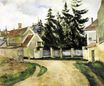 Houses and fir trees 1881