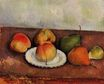 Still Life plate and fruit 1887