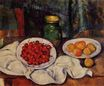 Still Life with a plate of cherries 1887