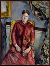 Madame Cezanne. Hortense Fiquet in a Red Dress 1888-1890