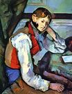 Boy in a red vest 1889