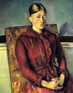 Madame Cezanne with a yellow armchair 1890