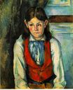 Boy in a red vest 1890