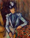 Woman in blue Madame Cezanne 1902