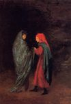 Edgar Degas - Dante and Virgil at the Entrance to Hell 1858