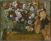 Edgar Degas - A Woman Seated beside a Vase of Flowers 1865