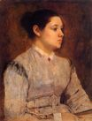Edgar Degas - Portrait of a Young Woman 1865