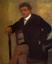 Edgar Degas - Seated Young Man in a Jacket with an Umbrella 1868