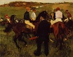 Edgar Degas - Out of the Paddock 1868-1872
