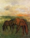 Edgar Degas - Two Horses in a Pasture 1871