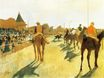Edgar Degas - Racehorses before the Stands 1872