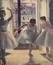 Edgar Degas - Three Dancers in an Exercise Hall 1874
