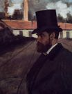 Edgar Degas - Henri Rouart in front of His Factory 1875