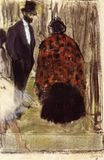 Edgar Degas - Ludovic Halevy Speaking with Madame Cardinal 1877