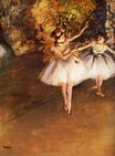 Edgar Degas - Two Dancers on Stage 1877