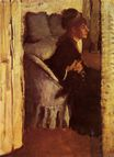 Edgar Degas - Woman Putting on her Gloves 1877