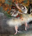 Edgar Degas - Two Dancers Entering the Stage 1878