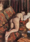 Edgar Degas - Female Nude Stretched Out on a Couch 1880-1885