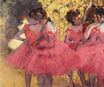 Edgar Degas - The Pink Dancers, Before the Ballet 1884
