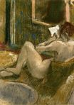 Edgar Degas - Nude from the Rear, Reading 1885