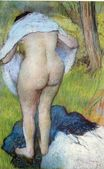 Edgar Degas - Nude Woman Pulling on Her Clothes 1885