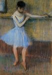 Edgar Degas - Dancer in Blue at the Barre 1889