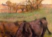 Edgar Degas - Landscape. Cows in the Foreground 1893