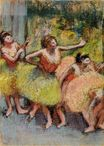 Edgar Degas - Dancers in Green and Yellow 1904