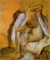 Edgar Degas - After Bathing, Woman Drying Herself 1905