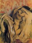 Edgar Degas - After Bathing, Woman Drying Herself 1907