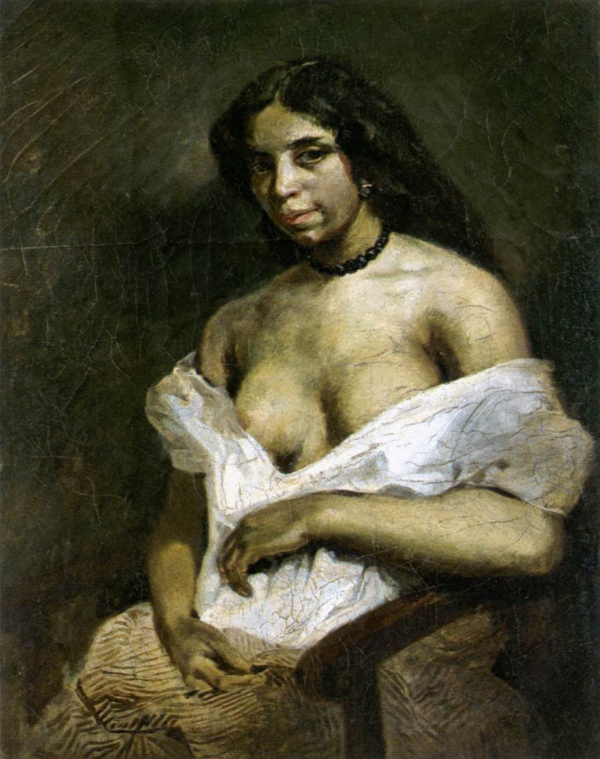 A Mulatto Woman. Portrait of Aspasie 1821-1824