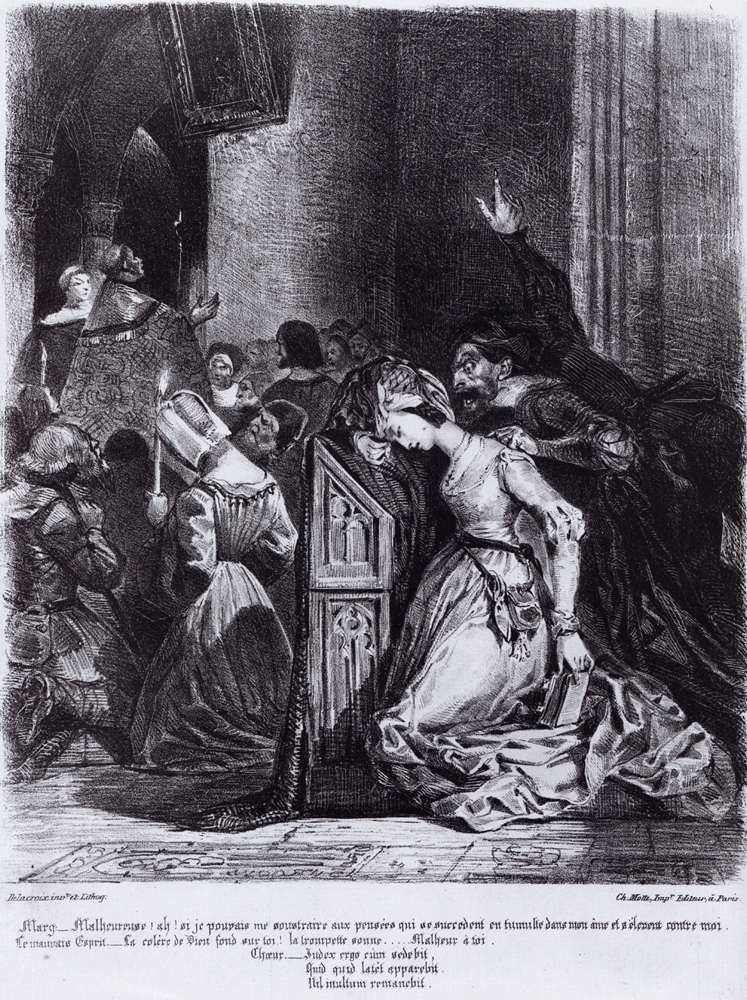 Marguerite in the Church with the Evil Spirits 1828