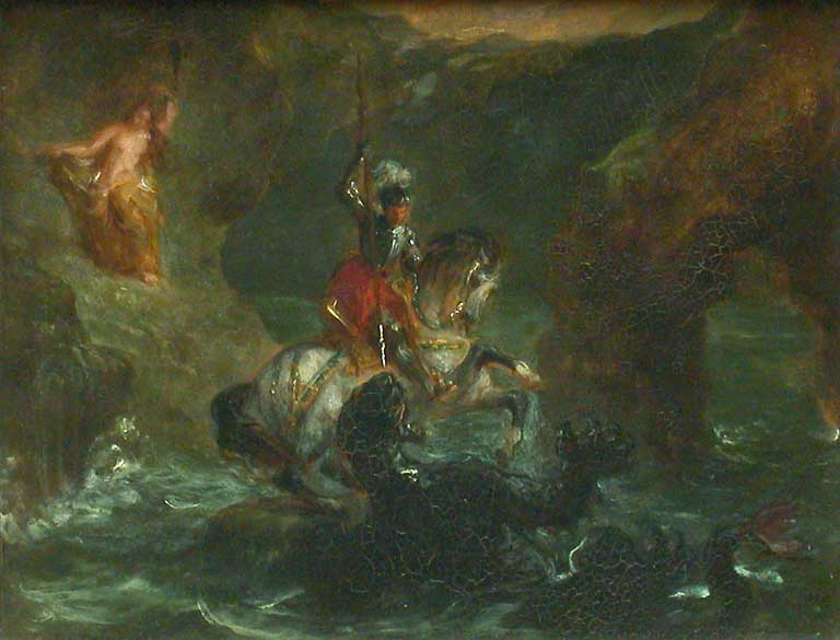 Saint George Fighting the Dragon, Perseus Delivering Andromeda 1847