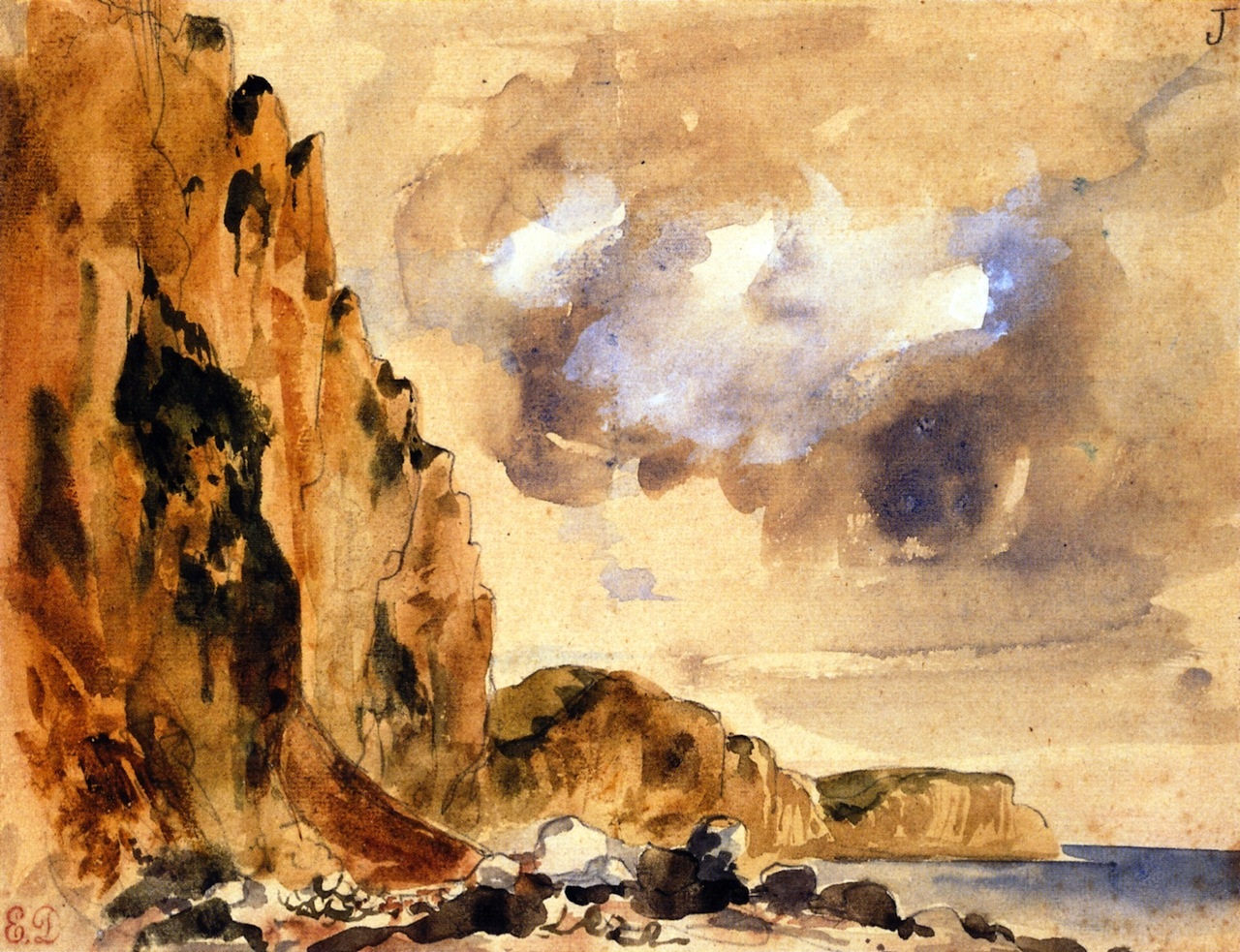 Cliffs in Normandy 1849
