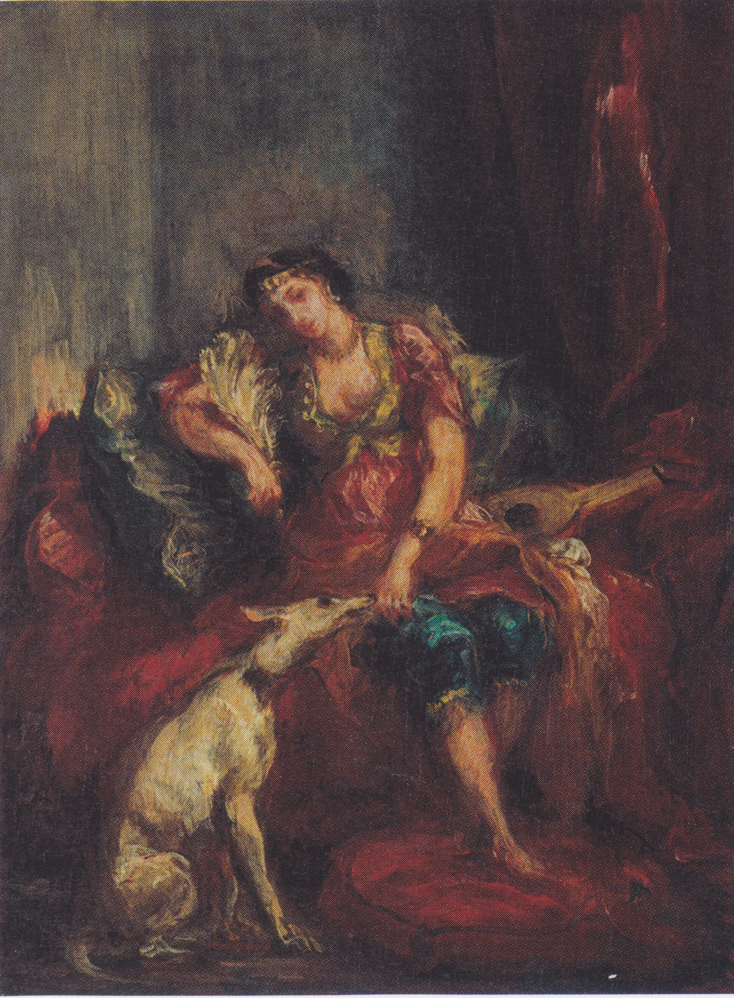 Woman from Algiers with Windhund 1854