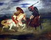 Two Knights Fighting in a Landscape 1824